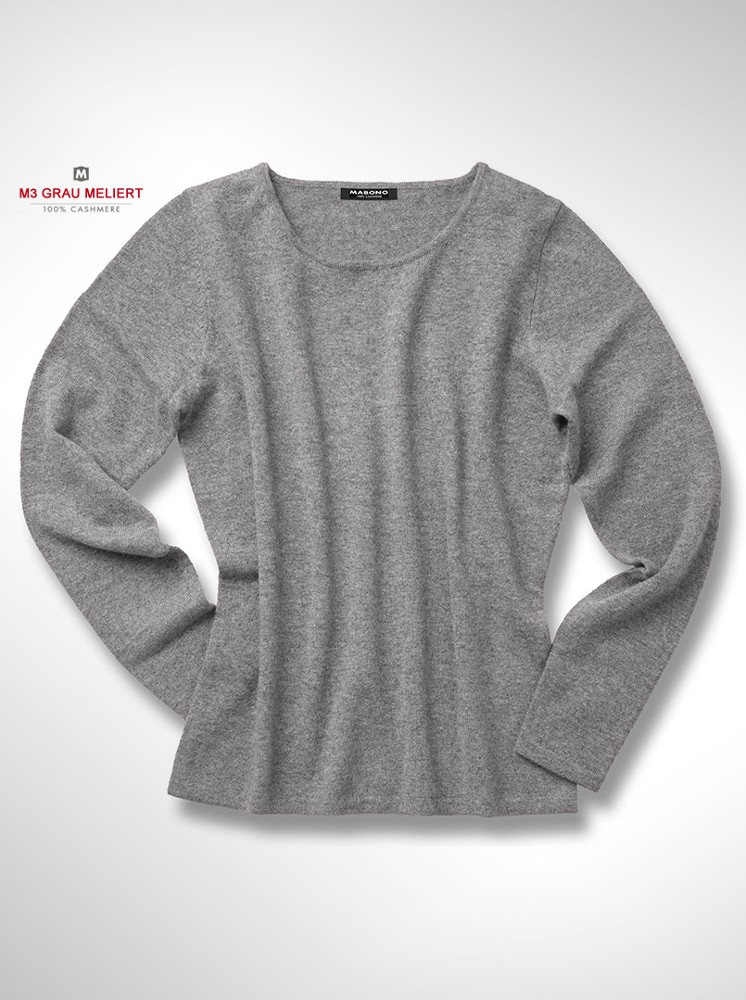 preiswerter damen cashmere pullover mit rundhals mona mabono kaschmir onlineshop. Black Bedroom Furniture Sets. Home Design Ideas